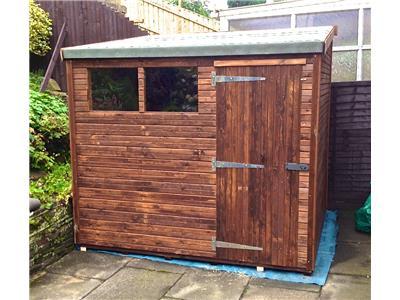 8x7 hipex b beast wood garden shed