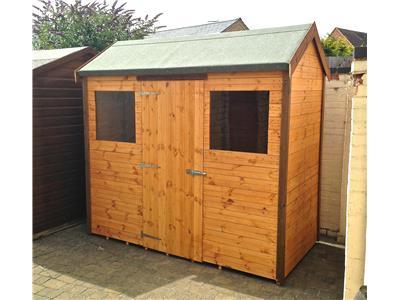 8x4 hipex c standard wood garden shed