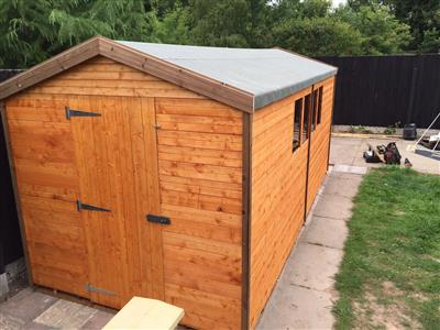 16x7 apex standard wood garden shed